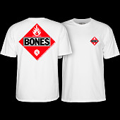Powell Peralta Flamable White T-shirt