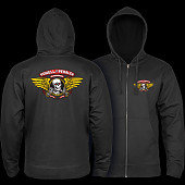 Powell Peralta Winged Ripper Zip Hooded Sweatshirt Black