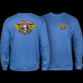 Powell Peralta Winged Ripper Midweight Crewneck Sweatshirt - Royal Heather