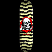 Powell Peralta Ripper Skateboard Blem Deck Pastel Yellow 245 K21 - 8.75 x 32.95