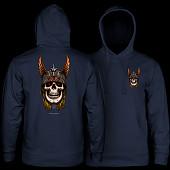 Powell Peralta Andy Anderson Skull Hooded Sweatshirt Mid Weight Navy
