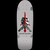 Powell Peralta Ray Rodriguez Skull and Sword OG Skateboard Blem Deck Silver - 10 x 30