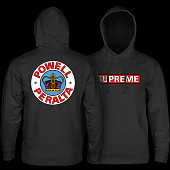 Powell Peralta Supreme Hooded Sweatshirt mid weigh Black