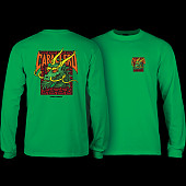 Powell Peralta Caballero Sreet Dragon L/S Shirt Kelly Green