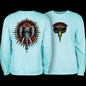 Powell Peralta Mike Vallely Elephant Crew Sweat Shirt Mid Weight Mint Green
