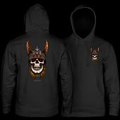 Powell Peralta Andy Anderson Skull Hooded Sweatshirt Mid Weight Black