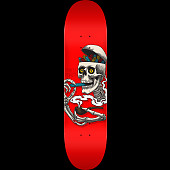 Powell Peralta Curb Skelly Blem Skateboard Deck Red - 8.25 x 31.95
