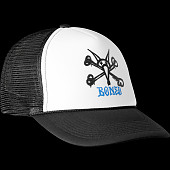 Powell Peralta Vato Rat Bones Trucker Cap - White/Black