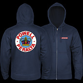 Powell Peralta Supreme Zip Hooded Sweatshirt Navy