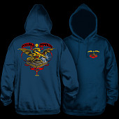 Powell Peralta Banner Dragon Hooded Sweatshirt Navy
