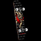 Powell Peralta Cab Dragon One Off '15' Skateboard Complete Assembly Black/Natural - 7.75 x 31.75