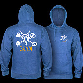 Powell Peralta Rat Bones Midweight Hooded Sweatshirt - Royal Heather