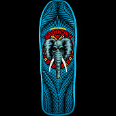 Powell Peralta Vallely Elephant Skateboard Blem Deck Blue 163 SP3