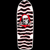 Powell Peralta OG Ripper Skateboard Deck White/Red - 10 x 30