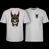 Powell Peralta Andy Anderson Skull T-Shirt - Athletic Heather