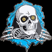Powell Peralta Ripper Lapel Pin Blue