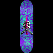Powell Peralta Skull and Sword Skateboard Deck Turquoise/Purple - Shape 248 - 8.25 x 31.95