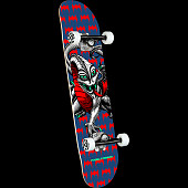 Powell Peralta Cab Dragon One Off Navy Complete Skateboard Birch - 7.5 x 28.65