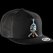 Powell Peralta Skull And Sword Trucker Cap - Black