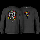 Powell Peralta Vallely Elephant L/S Shirt Charcoal