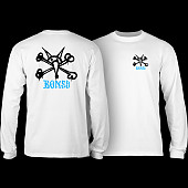 Powell Peralta Rat Bones YOUTH L/S - White