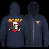 Powell Peralta Ripper Hooded Zip Sweatshirt - Navy