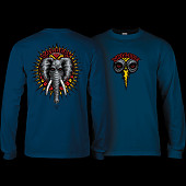 Powell Peralta Vallely Elephant L/S Shirt Navy