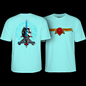 Powell Peralta Triple P Skull and Sword T-shirt Celadon