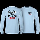 Powell Peralta Rat Bones L/S T-shirt Powder Blue
