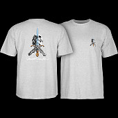 Powell Peralta Skull & Sword T-shirt - Gray