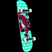 Powell Peralta Cab Dragon One Off Teal Complete Skateboard - 7.75 x 31.08