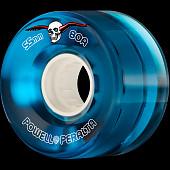 Powell Peralta Clear Cruiser Skateboard Wheels Blue 55mm 80A 4pk