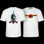 Powell Peralta Triple P Skull and Sword T-shirt White