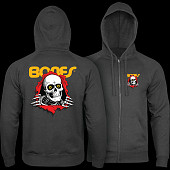 Powell Peralta Ripper Hooded Zip Sweatshirt - Charcoal Heather