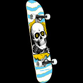 Powell Peralta Ripper One Off Lt Blue Birch Complete Skateboard - 7.5 x 30.7