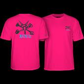 Powell Peralta Rat Bones YOUTH T-shirt -Hot Pink