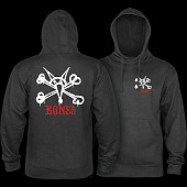 Powell Peralta Rat Bones Hooded Sweatshirt Mid Weight Charcoal Heather