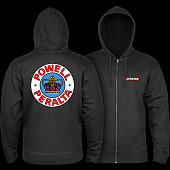 Powell Peralta Supreme Zip Hooded Sweatshirt Black