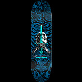 Powell Peralta Skull and Sword Skateboard Deck Blue - Shape 247 - 8 x 31.45
