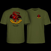 Powell Peralta Steve Caballero Dragon II T-shirt - Military Green