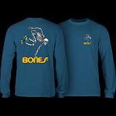 Powell Peralta Skateboarding Skelton L/S T-Shirt Slate Blue
