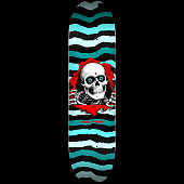 Powell Peralta Ripper Skateboard Deck Turquoise - Shape 248 - 8.25 x 31.95
