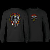 Powell Peralta Vallely Elephant L/S Shirt Black