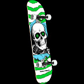 Powell Peralta Ripper One Off Green Birch Complete Skateboard - 7.5 x 30.7