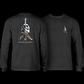 Powell Peralta Skull & Sword L/S T-shirt Charcoal Heather