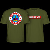 Powell Peralta Supreme T-Shirt - Military Green