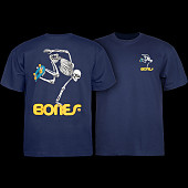 Powell Peralta Skateboarding Skeleton YOUTH T-shirt - Navy
