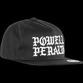 Powell Peralta Burst Snapback Cap - Black