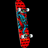 Powell Peralta Cab Dragon One Off Red Birch Complete Skateboard - 7.75 x 31.08