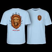 Powell Peralta Salman Agah lion T-Shirt Powder Blue